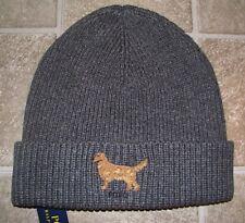 bc82e065920 Men s POLO-RALPH LAUREN Gray Knit GOLDEN RETRIEVER Cuffed Skull  Beanie Hat