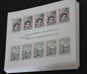 1980 Monaco; 100 mal Block Bedeutende Persönlichkeiten, **/MNH, Frankatur 1550FF