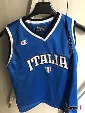 Canotta ITALIA Champions Taglia M 9-10 Anni Canottiera Sport