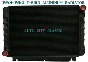 Ford Thunderbird T-Bird Black Radiator Aluminum 1958 1959 1960