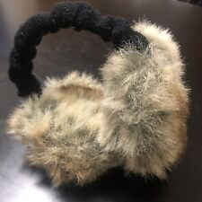 Barts Ladies Earmuffs Winter Faux Rabbit Fur Ear Muffs White Grey VGC