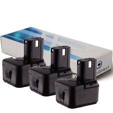 Lot de 3 batteries 12V 2000mAh pour Hitachi WH12DC - Société Française -