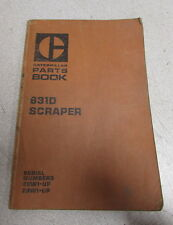 Caterpillar Cat 631D Scraper Parts Catalog Manual 28W1 29W1 1978
