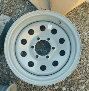 "ONE 16"" 6 LUG TRAILER WHEEL  6 ON 5.5 INCHES GRAY CIRCLE"