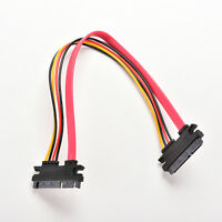 12Inch Male to Female 7+15 Pin SATA Data HDD Power Combo Extend Extension CablHK