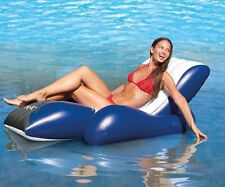 2x Genuine Intex Pool Lounge Chair - Inflatable Swimming Recliner Floating Chair