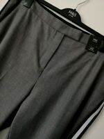RRP £35 LADIES M&S SIZE 22 LONG GREY SLIM ANKLE GRAZER STRETCH TROUSERS