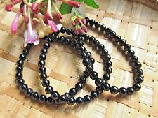 149-Bracelet tourmaline noire boules 6mm-Protection-Reiki-Soin par les cristaux