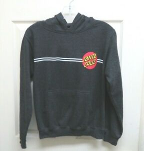Tilly's Santa Cruz Girl's M Classic Pullover Hoodie Charcoal w/ Graphics NWOT