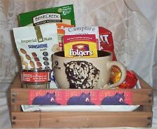 Bear Hunters Soup Mug Wood Crate Gift Basket Coffee Nuts Salt's Bear Creek Soup