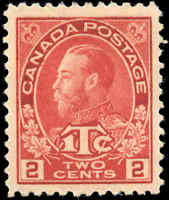 Canada Mint NH 1916 VF Scott #MR3b 2c+1c War Tax Stamp