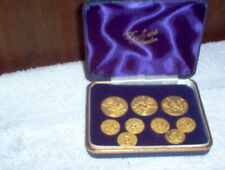 VINTAGE SET OF 9 BLAZER BUTTONS FROM DICKENS OF LONDON