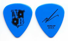 Nickelback Mike Kroeger Signature Blue Guitar Pick - 2006 Tour