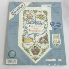 Dimensions Banners Counted Cross Stitch Kit Ingredients for a Happy Home 72557