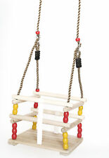 New PLAYBERG Wooden Baby Swing with Hanging Ropes, for Babies and Toddlers
