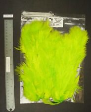 Hareline-Dubbin Dyed Chartreuse Soft Hackle With Marabou Hen Pelt Lot-Sf 479