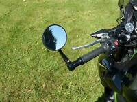 """7/8"""" Universal Round Motorcycle Rear View Handle Bar End Rearview Side Mirrors"""