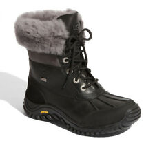 UGG Women ADIRONDACK II Waterproof Sheepskin Leather Boots US 5/EU 36 Black/Grey