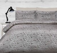 300TC Safari Leopard Animal Jacquard Quilt Doona Cover Set - QUEEN KING