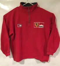 Tommy Hilfiger Ferrari Jacket Marlboro Vtg Red Grand Prix Racing Mens Size-Large