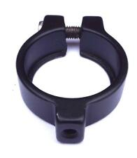 34.9MM / 35MM BOLT ON BLACK ALLOY SEAT POST CLAMP WITH ACCESSORY MOUNTING THREAD