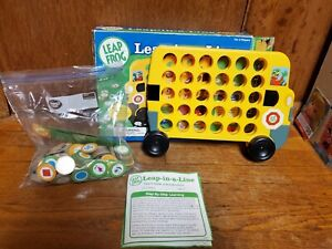 Leap In A Line Learning Bus Board game Educational Shape Color Letter 2005 frog
