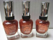 3 Sally Hansen Complete Salon Manicure Nail Color Polish 100 COPPER PENNY LOT 3