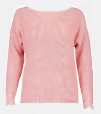 NEW WOMAN'S MARK'S & SPENCER'S PINK RIB-KNIT JUMPER NEW SIZES S-XL