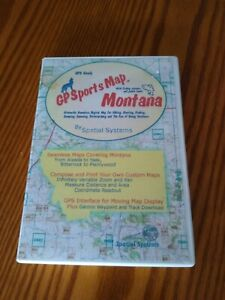 GPS Ready GPS SportsMap CD ROM Montana By Spatial Systems includes manual