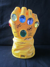 THANOS Infinity Gauntlet Vinyl Coin Bank Signed By 25+ Marvel Artist & Writers