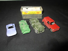 Vintage Lot of 4 Diecast Cars/Trucks, Tootsie, Good Condition