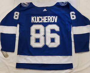 Tampa Bay Lightning Nikita Kucherov 86 Stitched Jersey Size LG 52 NEW