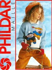 Childrens Sweaters Cardigans Knitting PATTERNS Aran Picture Penguins  Snowboard