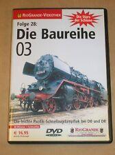 RARE DVD DOC TRAIN EN ALLEMAND / DIE BAUREIHE 03 / TRES BON ETAT