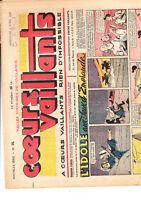 COEURS VAILLANTS 1948 n°14. Tintin Temple du Soleil