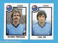 PANINI CALCIATORI 1982/83 -Figurina n.429- FONTOLAN+PIN - COMO -Rec