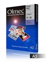 Olmec 230gsm Photo Archival Matt Inkjet Paper A3/50 Sheets