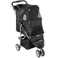 Foldable 3 Wheel Pet Stroller, Black, Dog, Cat, Pet, Jogging Walking Exercise