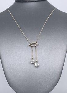 Antique Platinum 0.78 Tcw Diamond Dangle Drop One of a kind Necklace Circa 1900!