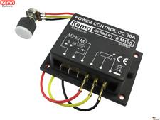 PWM Leistungsregler KEMO M195 9-28 V/DC max. 20A Drehzahlregler Lampe LED Dimmer