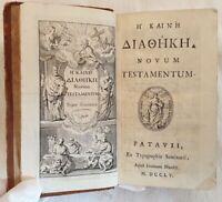 NOVUM TESTAMENTUM THE KAINHE NUOVO TESTAMENTO VANGELO 1755 GOSPEL INCISIONE