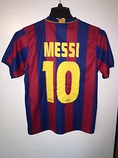 FCB Official Lionel MESSI Jersey Mens Size Small Barcelona Soccer UNICEF