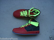 NIKE Air Force 1 High Premium 45 Elephant Print ID Red/Black/volt