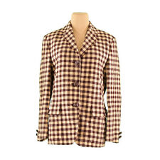 EMPORIO ARMANI jacket block check Ladies Authentic Used G1219