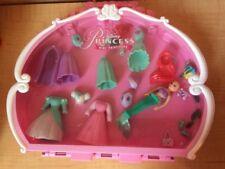 "Disney Princess Ariel 4"" Doll 5 Dresses Mermaid Tail Cape Polly Pocket Case Pets"