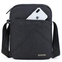 Mens Casual crossbody Bag Shoulder for 9.7'pad Waterproof Messenger Canvas