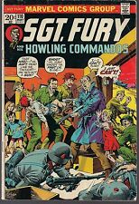 """SGT FURY & HOWLING COMMANDOS #110 MARVEL 05/73 """"THE REPORTER"""" WWII ACTION FN/VF"""