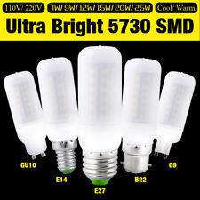 E27/GU10/G9/E14/B22 Ultra Bright 5730 LED Corn Bulb Lamp Light Milky White aaoV