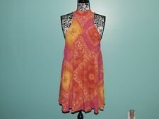 FREE PEOPLE  Cute Swing Slip Dress sz XS New with Tags Pinks Yellows