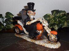 Yankee Candle ~ BONEY BUNCH *2013* Boney Motorcycle Tea Light Holder ~ New boxed